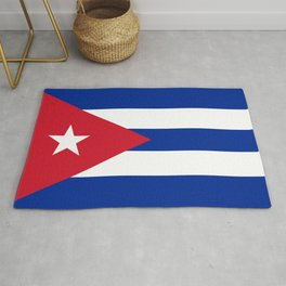 Flag of Cuba - Authentic version (High Quality Image) Rug