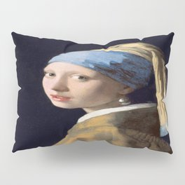 Johannes Vermeer's Girl With a Pearl Earring Pillow Sham