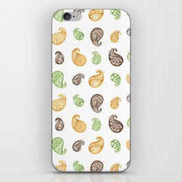 Paisley Motif ( Buta ) - Tribal Style Traditional Artistic Pattern iPhone Skin