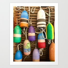 Bouys of the rainbow Art Print