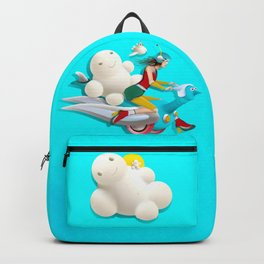 Time bunny girl and clouds Backpack