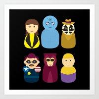 watchmen Art Prints featuring Watchmen by PinkRadish