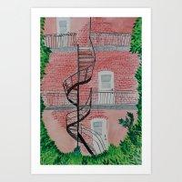 Montreal Staircase Art Print