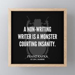 12  |  Franz Kafka Quotes | 190517 Framed Mini Art Print