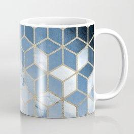 Shades Of Blue Cubes Pattern Coffee Mug