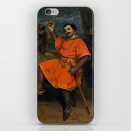 """Gustave Courbet """"Louis Gueymard (1822–1880) as Robert le Diable"""" iPhone Skin"""
