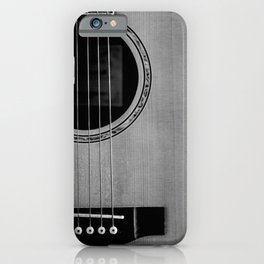 acoustic electric guitar music aesthetic close up elegant fine art photography  iPhone Case