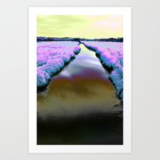 Colourful Scottish Canal Art Print