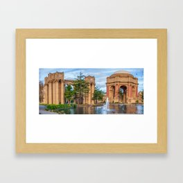 San Francisco Palace of Fine Arts Panorama Framed Art Print