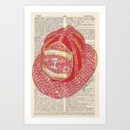Fireman's Helmet Art Print