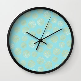 Golden Balls Wall Clock