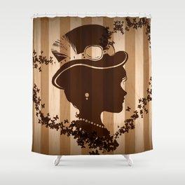 Steampunk Silhouette  Shower Curtain