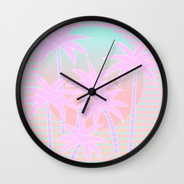 Hello Miami Sunrise Wall Clock