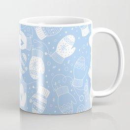 Winter Mittens Powder Blue Coffee Mug