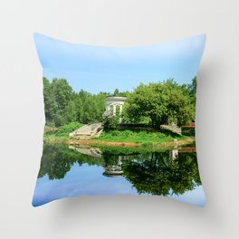 The first day of summer Throw Pillow