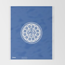 """OREO"" Biscuit poster Throw Blanket"