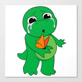 Little Dinosaur, Big Feelings (Flutter) Canvas Print