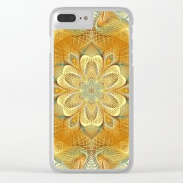 Flower Of Life Mandala (Golden Touch) Clear iPhone Case