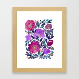 hand painted flowers_2 Framed Art Print