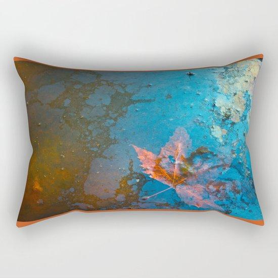 Leaf in my Pond Rectangular Pillow