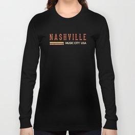 Vintage Country Music Nashville, Souvenir, Gift, Road Trip print Long Sleeve T-shirt