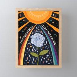Deep healing on all levels Framed Mini Art Print