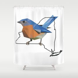 New York – Eastern Bluebird Shower Curtain