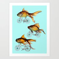 fish Art Prints featuring fish by Кaterina Кalinich