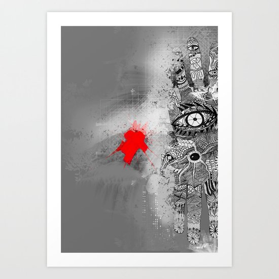 On/off Art Print