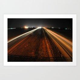 Light highway Art Print