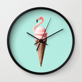FLAMINGO CONE Wall Clock
