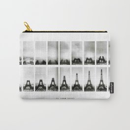 1888-1889 Eiffel Tower Full Construction Sequence black and white photography Carry-All Pouch
