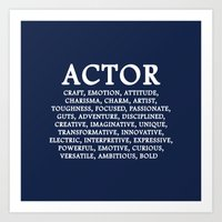 actor Art Prints featuring ACTOR by IDMP