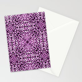 Black and White Stained Glass 1 Stationery Cards