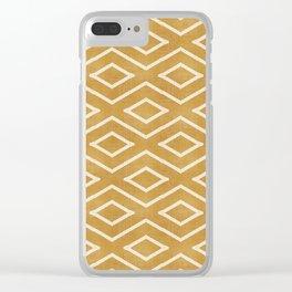 Stitch Diamond Tribal in Gold Clear iPhone Case