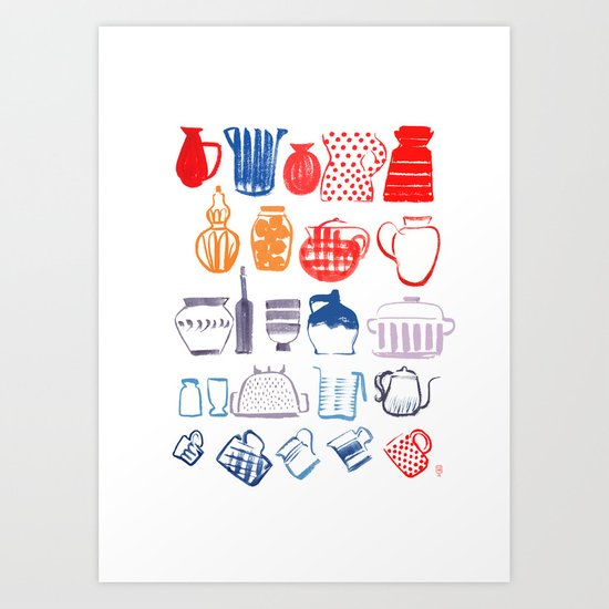 in my kitchen Art Print