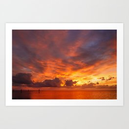 Burning Sunset Art Print