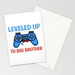 Leveled Up To Big Brother Stationery Cards