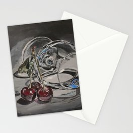 The liqueur and cherries Stationery Cards