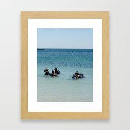 Diving academy Framed Art Print
