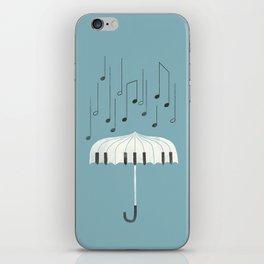 Singing in the rain iPhone Skin