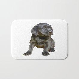 Adorable and Cute Black Labrador Puppy Vector Bath Mat