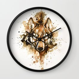 """""""Into the mirror"""" n°1 The wolf Wall Clock"""