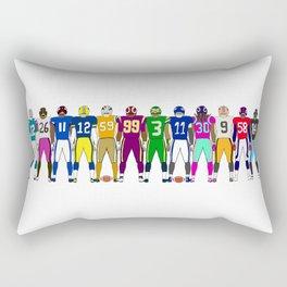 Football Backs Rectangular Pillow
