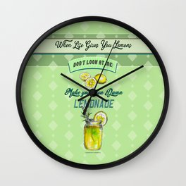 Wen Life Gives you lemons Wall Clock