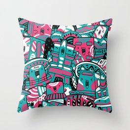 Miami Pattern Classic Throw Pillow
