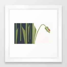 red corn Framed Art Print