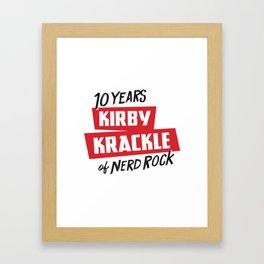 Kirby Krackle - 10th Anniversary Logo Framed Art Print