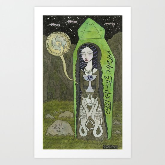 Snow White in her Glass Coffin Art Print