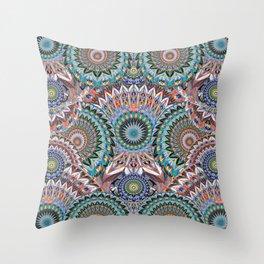 Deep Mind Healing Uplifting Mandala Throw Pillow